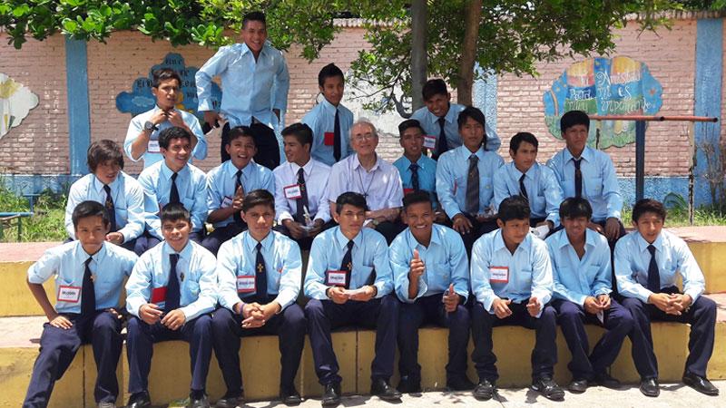 Die stolzen Firmline aus dem Hogar Don Bosco. © Privat