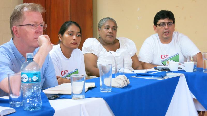 Auf Kundschafterbesuch bei einer Kleinen Christlichen Gemeinschaft in Managua.