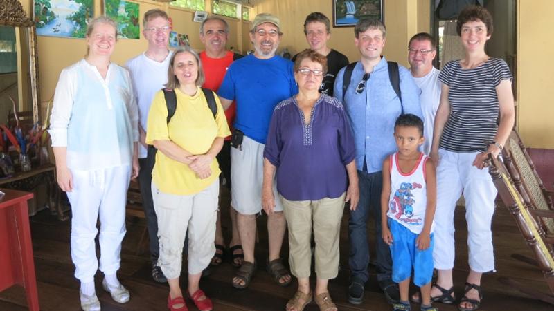 Unsere Gruppe wohnt bei Mariíta, einer Campesina, die zur Gemeinschaft Ernesto Cardenals in Solentiname gehörte. © Bistum Speyer